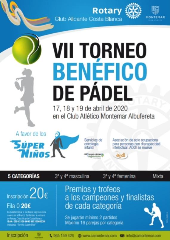 VII Torneo Benéfico de Padel a favor de los Súper Niños