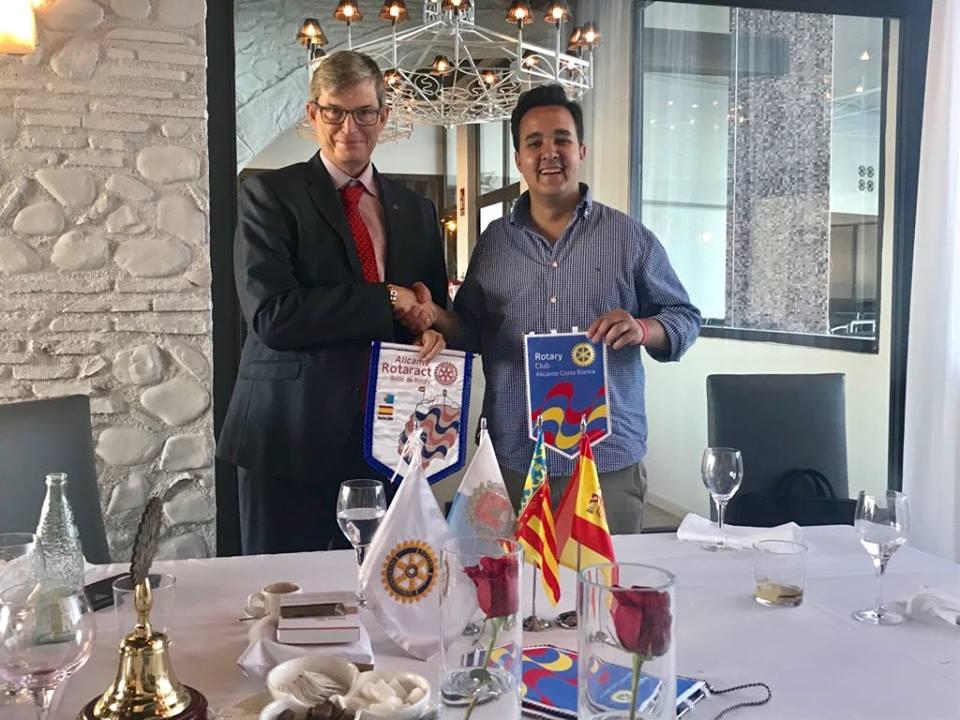 nos visita el Presidente de Rotaract Alicante