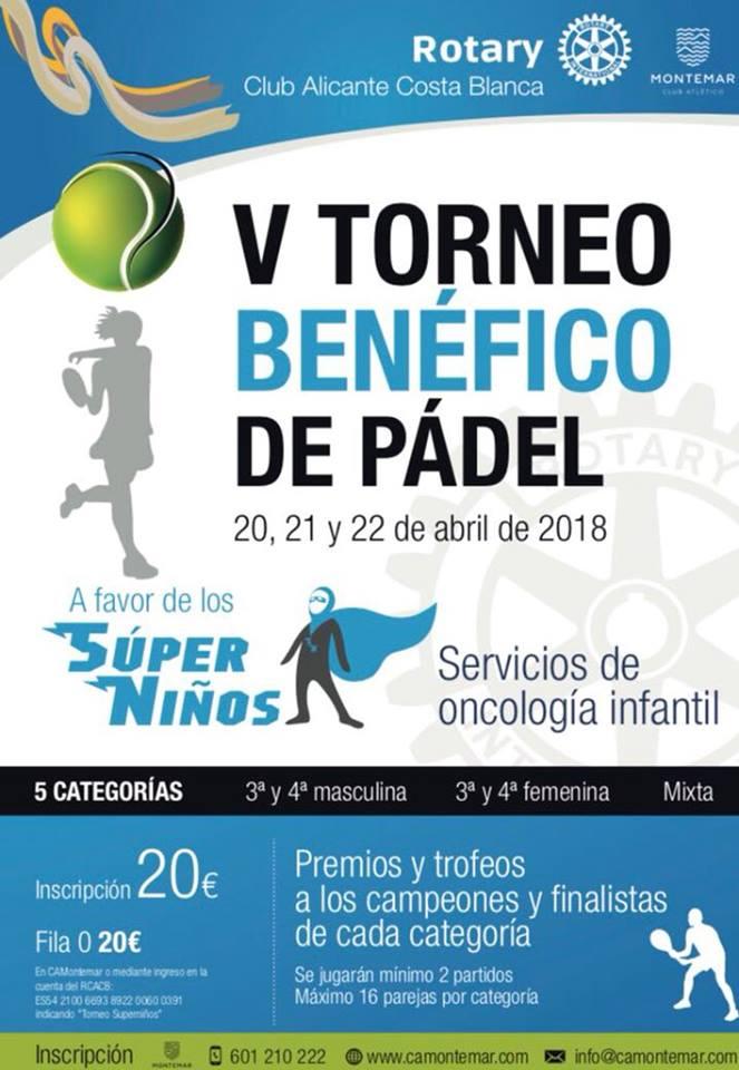 V TORNEO BENÉFICO DE PADEL A FAVOR DE LOS SÚPER NIÑOS
