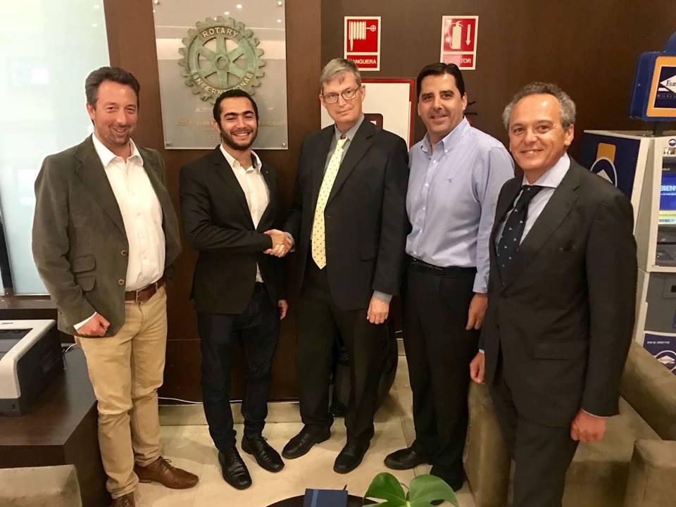 Nos visita Ben Omar Mohamed, Presidente 2018 2019 del Rotaract Club de Alicante
