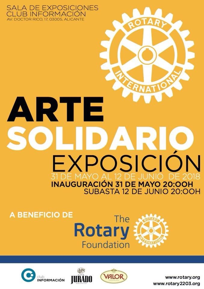 Arte Solidario a favor de la Fundación Rotaria