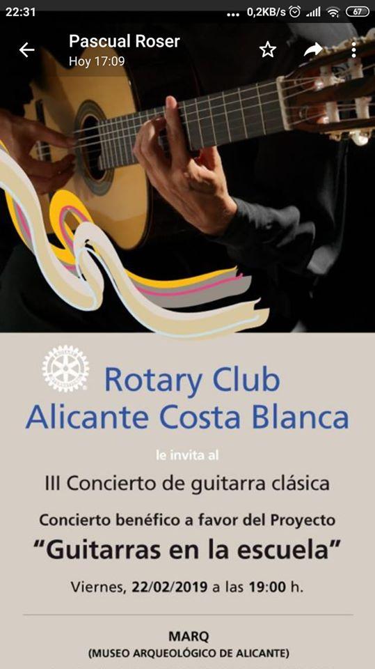 III Concierto Guitarras en la Escuela