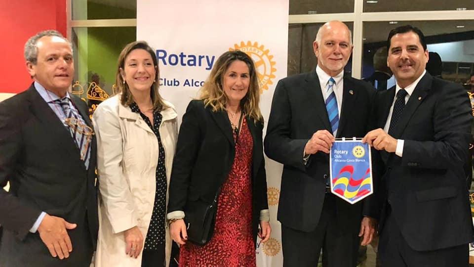 Con Barry Rassin, Presidente de Rotary Internacional