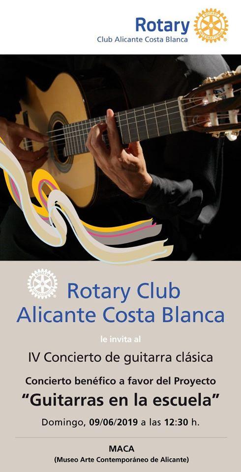 """IV Concierto de Guitarra Clásica solidario a favor del proyecto """"Guitarras en la escuela"""""""