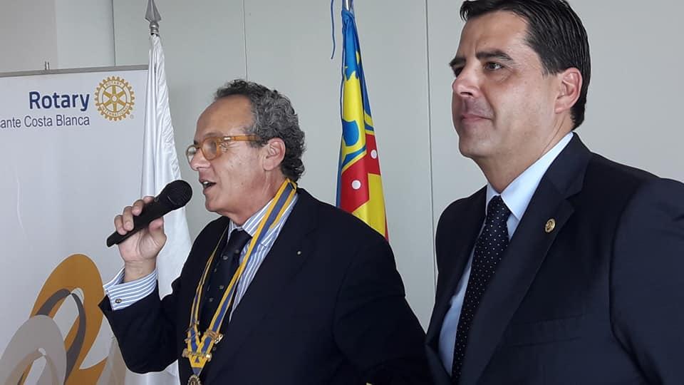 Ramón Sancho, nuevo Presidente del Rotary Club Alicante Costa Blanca !!!