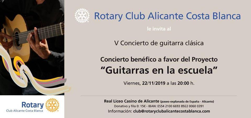 V Concierto benéfico a favor del proyecto Guitarras en la escuela