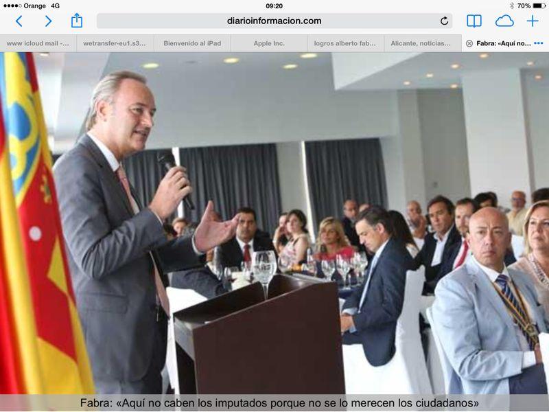 Visita D. Alberto Fabra, Presidente Generalitat Valenciana