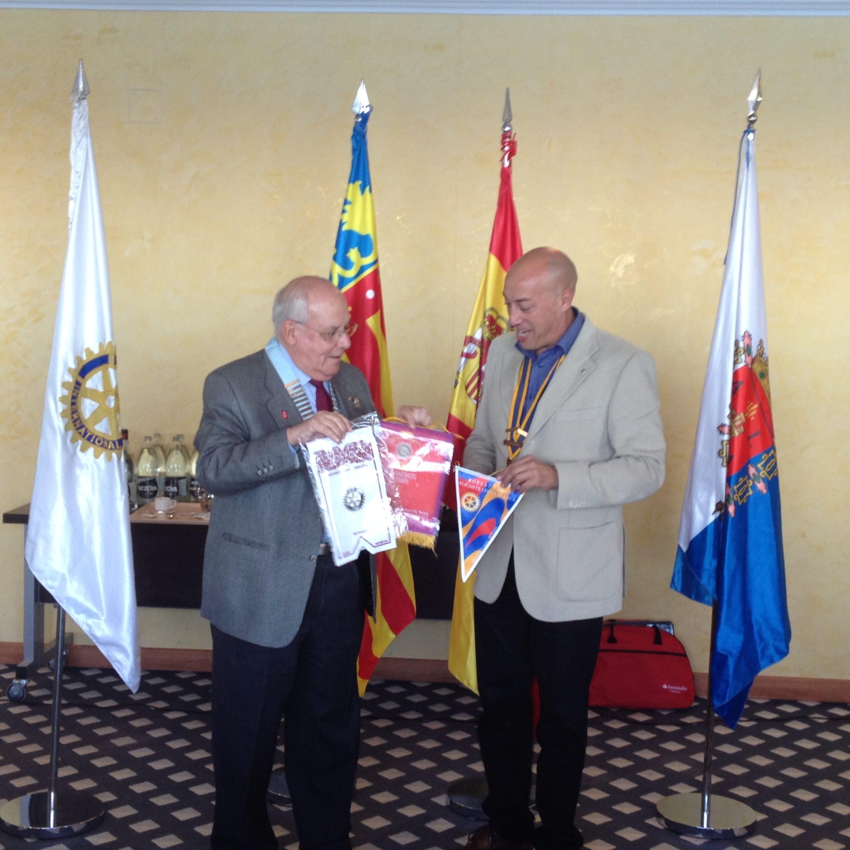 Visita del Gobernador de Distrito, Antonio Navarro Quercop. 6 nov 2014