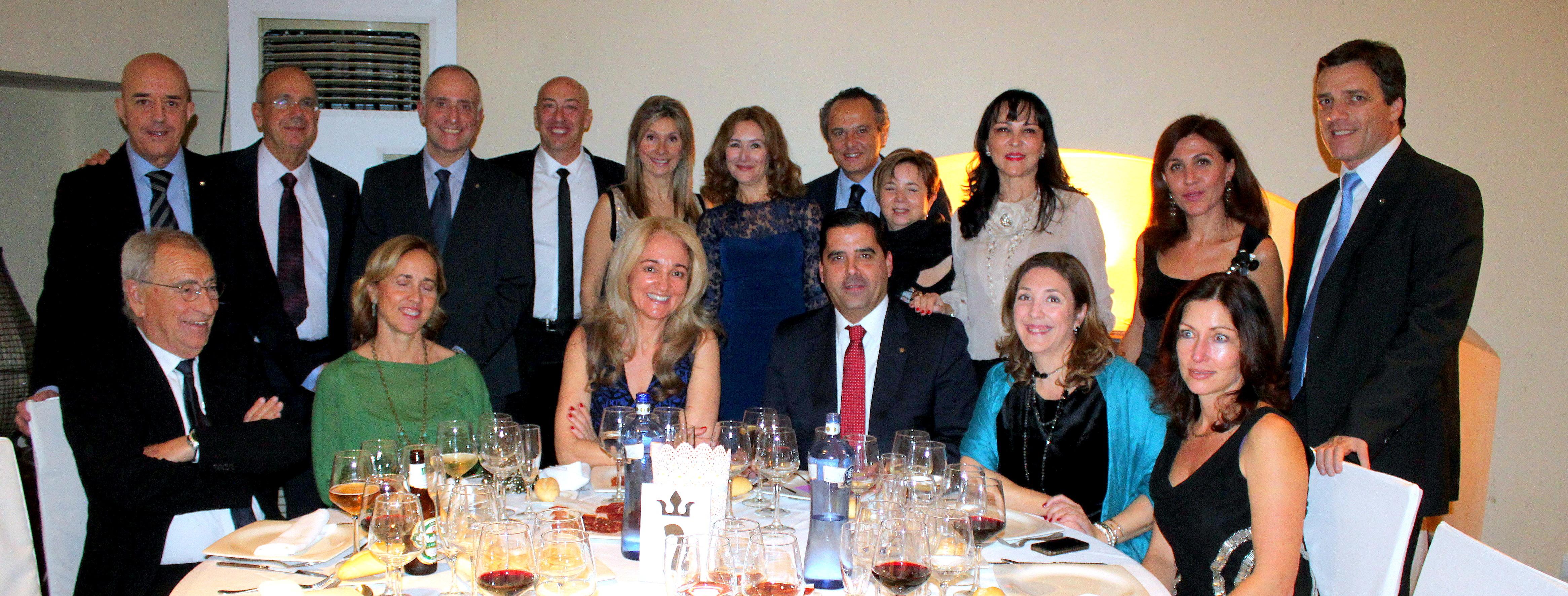 Cena de Navidad del club, Torre de Rejas, el 19 de diciembre 2014.