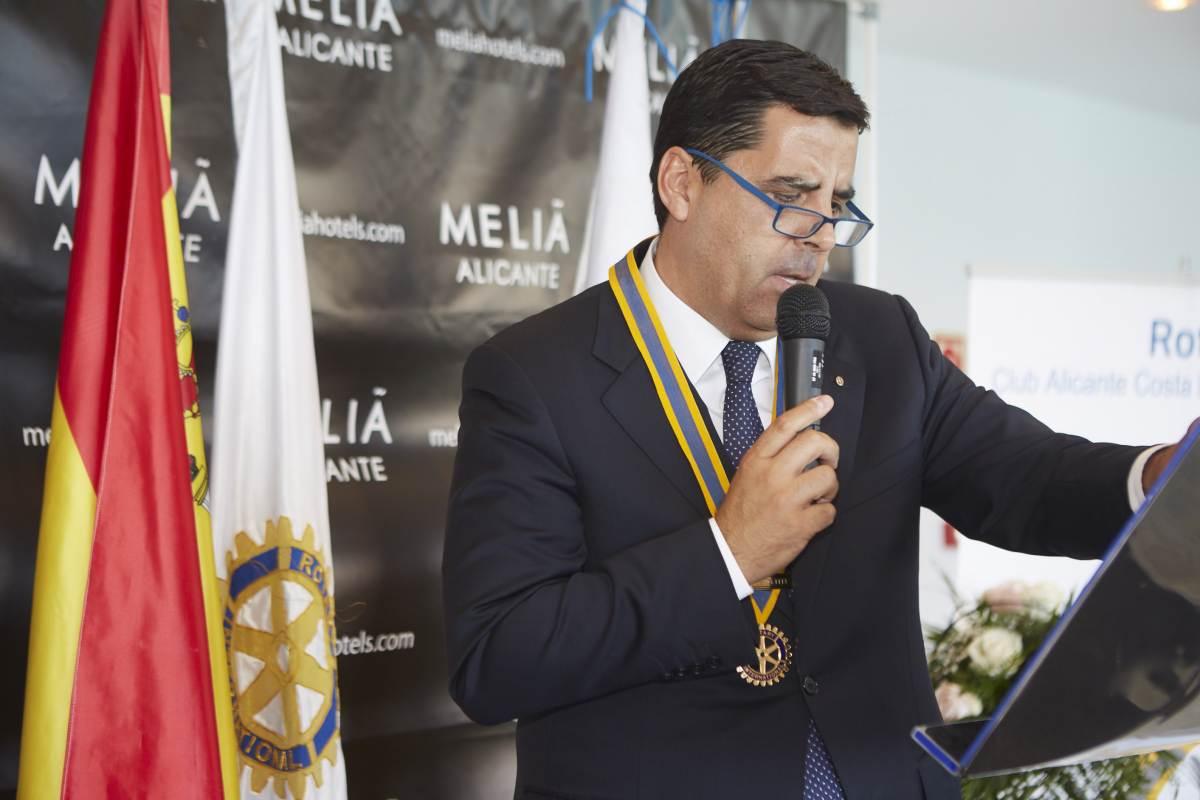 Rafael Regalado Pareja, nuevo Presidente del Rotary Club Alicante Costa Blanca (2018 2019)