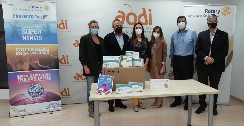 500 mascarillas y guantes protectores del covid-19 para AODI